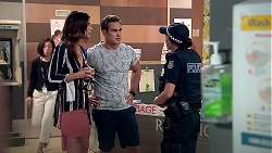 Elly Conway, Aaron Brennan, Mishti Sharma in Neighbours Episode 7798