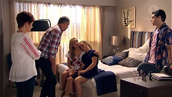 Susan Kennedy, Karl Kennedy, Izzy Hoyland, Holly Hoyland, Ben Kirk in Neighbours Episode 7799