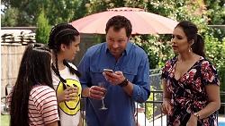 Kirsha Rebecchi, Yashvi Rebecchi, Shane Rebecchi, Dipi Rebecchi in Neighbours Episode 7799