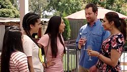 Kirsha Rebecchi, Yashvi Rebecchi, Mishti Sharma, Shane Rebecchi, Dipi Rebecchi in Neighbours Episode 7799