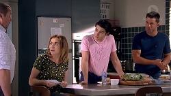 Toadie Rebecchi, Piper Willis, Ben Kirk, Mark Brennan in Neighbours Episode 7800