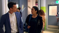 Jack Callaghan, Yashvi Rebecchi in Neighbours Episode 7801