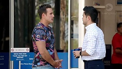 Aaron Brennan, David Tanaka in Neighbours Episode 7802