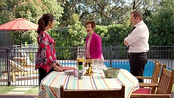Dipi Rebecchi, Susan Kennedy, Karl Kennedy in Neighbours Episode 7802