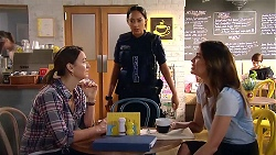 Amy Williams, Mishti Sharma, Elly Conway in Neighbours Episode 7803