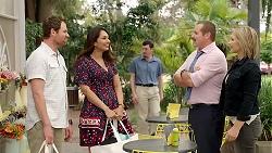 Shane Rebecchi, Dipi Rebecchi, Toadie Rebecchi, Steph Scully in Neighbours Episode 7803