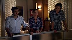 David Tanaka, Amy Williams, Leo Tanaka in Neighbours Episode 7804