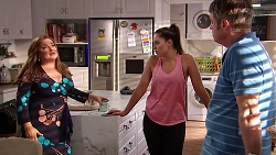 Terese Willis, Paige Novak, Gary Canning in Neighbours Episode 7805