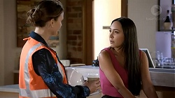 Amy Williams, Mishti Sharma in Neighbours Episode 7806