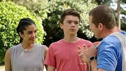 Yashvi Rebecchi, Jimmy Williams, Toadie Rebecchi in Neighbours Episode 7806