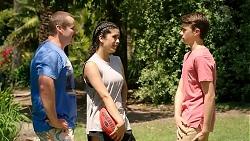 Toadie Rebecchi, Yashvi Rebecchi, Jimmy Williams in Neighbours Episode 7806