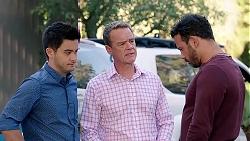 David Tanaka, Paul Robinson, Rafael Humphreys in Neighbours Episode 7807