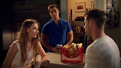Chloe Brennan, Aaron Brennan, Mark Brennan in Neighbours Episode 7808