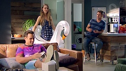 Aaron Brennan, Chloe Brennan, Mark Brennan in Neighbours Episode 7808