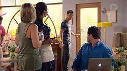 Steph Scully, Dipi Rebecchi, Mark Brennan, Shane Rebecchi in Neighbours Episode 7809