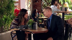 Holly Hoyland, Paige Novak, Clive Gibbons in Neighbours Episode 7809