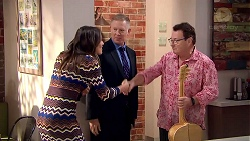 Paige Novak, Clive Gibbons, Ross Wilson in Neighbours Episode 7809