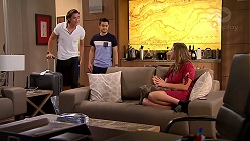 Leo Tanaka, David Tanaka, Amy Williams in Neighbours Episode 7810