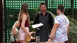 Chloe Brennan, Shane Rebecchi, Aaron Brennan in Neighbours Episode 7810