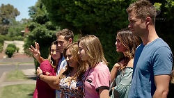 Amy Williams, Aaron Brennan, Terese Willis, Piper Willis, Elly Conway, Mark Brennan in Neighbours Episode 7810