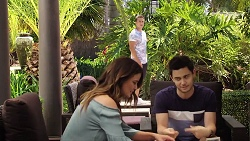 Elly Conway, Aaron Brennan, David Tanaka in Neighbours Episode 7811
