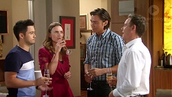 David Tanaka, Amy Williams, Leo Tanaka, Paul Robinson in Neighbours Episode 7811