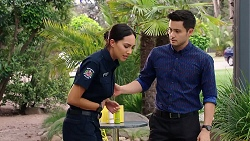 Mishti Sharma, David Tanaka in Neighbours Episode 7812
