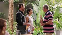 Shane Rebecchi, Yashvi Rebecchi, Karl Kennedy in Neighbours Episode 7812