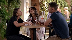 Amy Williams, Elly Conway, Mark Brennan in Neighbours Episode 7813