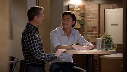 Paul Robinson, Leo Tanaka in Neighbours Episode 7814