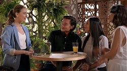 Chloe Brennan, Leo Tanaka, Mishti Sharma, Elly Conway in Neighbours Episode 7815