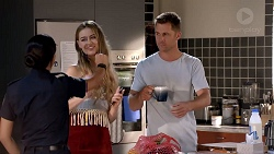 Mishti Sharma, Chloe Brennan, Mark Brennan in Neighbours Episode 7815
