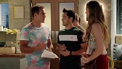 Aaron Brennan, David Tanaka, Chloe Brennan in Neighbours Episode 7816