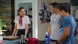 Chloe Brennan, Mark Brennan, Aaron Brennan in Neighbours Episode 7816