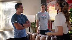 Aaron Brennan, Mark Brennan, Chloe Brennan in Neighbours Episode 7816