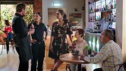 Shane Rebecchi, Mishti Sharma, Dipi Rebecchi, Susan Kennedy, Karl Kennedy in Neighbours Episode 7817