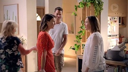 Sheila Canning, Amy Williams, Mark Brennan, Sonya Mitchell in Neighbours Episode 7818