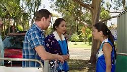 Shane Rebecchi, Dipi Rebecchi, Yashvi Rebecchi in Neighbours Episode 7820