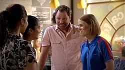Dipi Rebecchi, Yashvi Rebecchi, Shane Rebecchi, Jaida Patrick in Neighbours Episode 7820