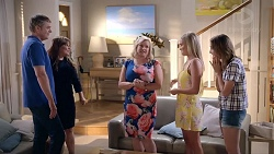 Gary Canning, Terese Willis, Sheila Canning, Xanthe Canning, Amy Williams in Neighbours Episode 7821