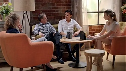 Jane Harris, Paul Robinson, Leo Tanaka, Chloe Brennan in Neighbours Episode 7821