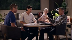 Gary Canning, Leo Tanaka, Chloe Brennan, Paul Robinson in Neighbours Episode 7821