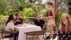 Elly Conway, Aaron Brennan, Xanthe Canning, Chloe Brennan in Neighbours Episode 7822