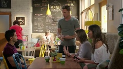 David Tanaka, Mark Brennan, Amy Williams, Elly Conway in Neighbours Episode 7823