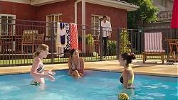 Leo Tanaka, Monique Hughes, Mishti Sharma, Yashvi Rebecchi in Neighbours Episode 7824