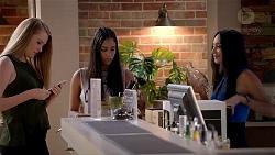 Monique Hughes, Yashvi Rebecchi, Mishti Sharma in Neighbours Episode 7824