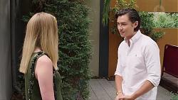 Monique Hughes, Leo Tanaka in Neighbours Episode 7824