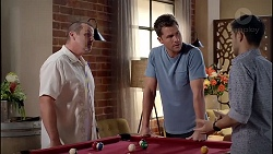 Toadie Rebecchi, Mark Brennan, David Tanaka in Neighbours Episode 7825