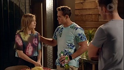 Piper Willis, Aaron Brennan, Mark Brennan in Neighbours Episode 7825