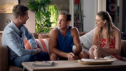Mark Brennan, Aaron Brennan, Chloe Brennan in Neighbours Episode 7826